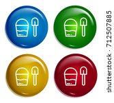 bucket multi color gradient...