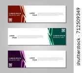 vector abstract design banner... | Shutterstock .eps vector #712509349