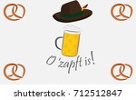 oktoberfest  o'zapft is    Shutterstock .eps vector #712512847