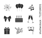 vector image of set of party... | Shutterstock .eps vector #712518031