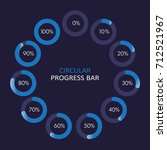 set of circular progress bar... | Shutterstock .eps vector #712521967
