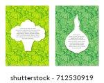 card design templates on... | Shutterstock .eps vector #712530919