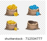 a set of vector canvas bags... | Shutterstock .eps vector #712534777