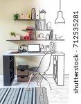 abstract sketch design  modern... | Shutterstock . vector #712535281