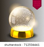 snow globe empty template... | Shutterstock .eps vector #712536661