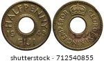 Fiji Fijian Coin 1 2 Half Cent...