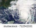 eye of hurricane irma makes... | Shutterstock . vector #712542331