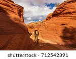 hike in the utah mountains | Shutterstock . vector #712542391