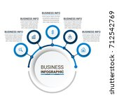 business infographic elements | Shutterstock .eps vector #712542769