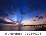 beautiful at twilight times and ... | Shutterstock . vector #712544275