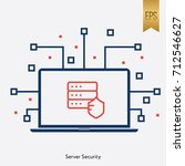 server security and computer... | Shutterstock .eps vector #712546627