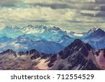 beautiful mountains landscapes... | Shutterstock . vector #712554529