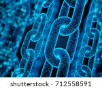 block chain concept   digital... | Shutterstock . vector #712558591