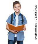 portrait of young student with... | Shutterstock . vector #712558939