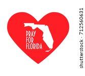 pray for florida vector... | Shutterstock .eps vector #712560631