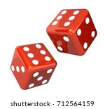 falling red dice for gambling.... | Shutterstock . vector #712564159