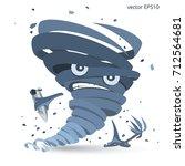 storm vortex mascot. vector...