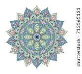 flower mandalas. vintage...   Shutterstock .eps vector #712565131