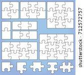puzzle set 1  2 3  4 6 8 9 12... | Shutterstock . vector #712572757
