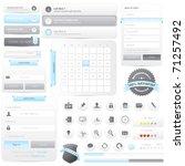 website frame elements pack...   Shutterstock .eps vector #71257492