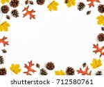 autumn mock up scene. creative... | Shutterstock . vector #712580761