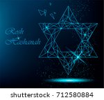 rosh hashanah greeting card... | Shutterstock .eps vector #712580884