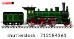 An Old Locomotive Of Green...