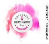 breast cancer awareness banner... | Shutterstock .eps vector #712585804
