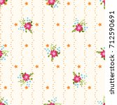 seamless abstract floral... | Shutterstock . vector #712590691