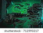 circuit board. electronic... | Shutterstock . vector #712593217