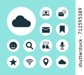 media icons set. collection of... | Shutterstock .eps vector #712595389