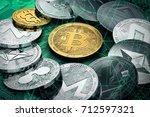 huge stack of cryptocurrencies... | Shutterstock . vector #712597321
