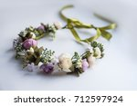 wreath  wedding  flowers | Shutterstock . vector #712597924