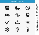 set of 12 editable health icons....