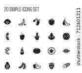 set of 20 editable cookware... | Shutterstock .eps vector #712601311