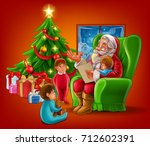 Santa Claus Reading The Letter