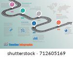 business road map timeline... | Shutterstock .eps vector #712605169