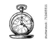vector ink hand drawn... | Shutterstock .eps vector #712605511