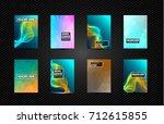 a4 brochure cover mininal... | Shutterstock . vector #712615855