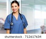nurse portrait | Shutterstock . vector #712617634