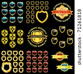vector shield collection for... | Shutterstock .eps vector #71261818