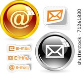 e mail icon set for web. | Shutterstock .eps vector #71261830