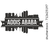 addis ababa skyline silhouette... | Shutterstock .eps vector #712625197