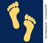 Footprints Raster Icon. Flat...