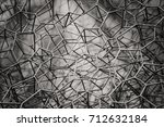 abstract steel net detail | Shutterstock . vector #712632184