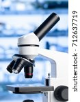 microscope with sample with out ... | Shutterstock . vector #712637719