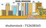 spain  benidorm. city skyline ... | Shutterstock .eps vector #712638565