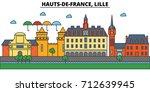 france  lille  hauts de france .... | Shutterstock .eps vector #712639945