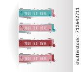 horizontal business banner... | Shutterstock .eps vector #712642711