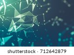 abstract polygonal space low... | Shutterstock . vector #712642879